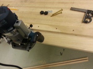 Trimming the router guides